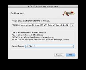 Export Client Certificate